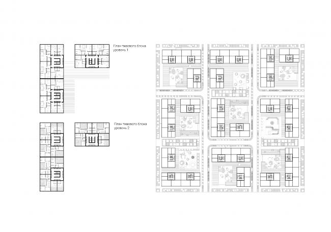 Проект многофункционального жилого квартала. Автор: Надежда Коренева