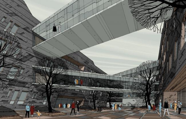 Проект многофункционального жилого квартала. Автор: Олег Манов
