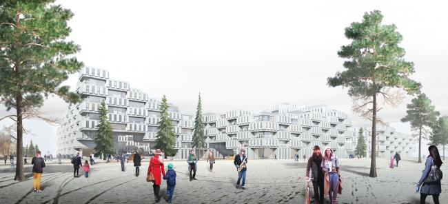 Проект многофункционального жилого квартала. Авторы: Елена Каширина, Игорь Каширин