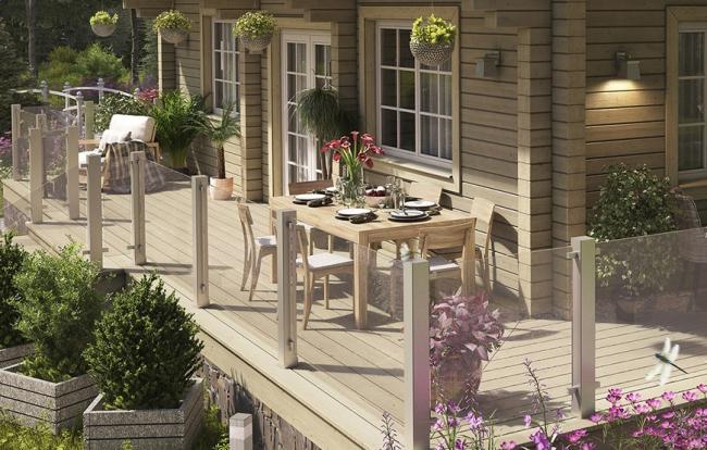 Дом серии СП-300, терраса © Good Wood