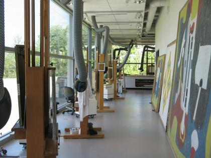 Центр Стоун-Хилл Института искусств Кларк. Работы А. Горки в реставрационной мастерской