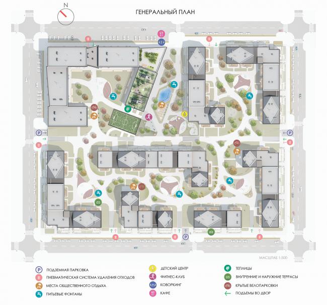 Проект многофункционального жилого квартала. Авторы: 2Портала