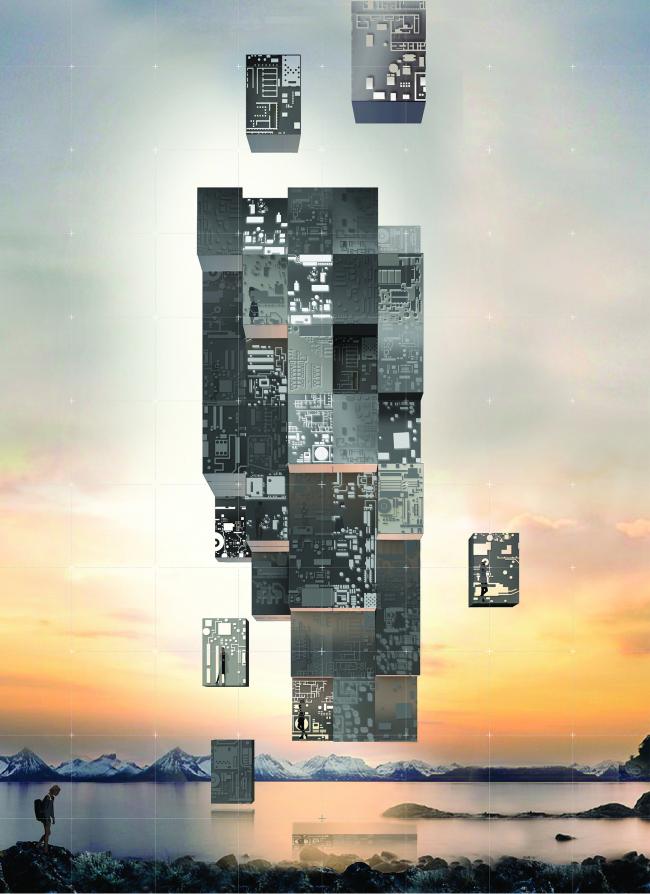 Проект многофункционального жилого квартала. Авторы: WALL