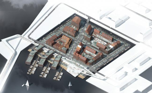 Проект многофункционального жилого квартала. Авторы: Никита Тимонин, Мария Ляшко