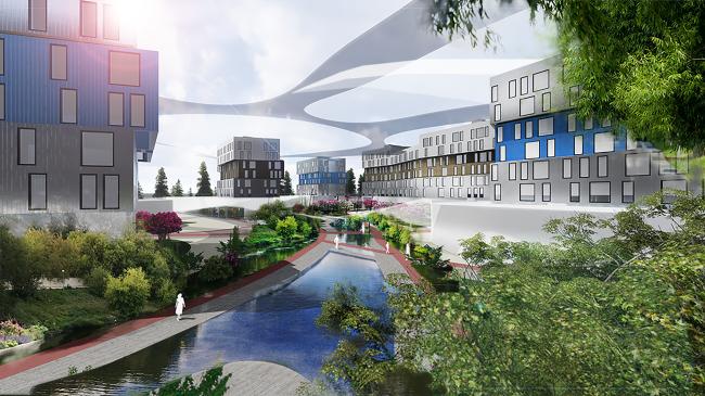 Проект многофункционального жилого квартала. Авторы: Наталья Саблина, Тимур Черкасов