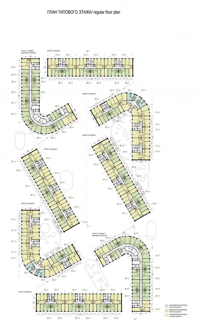 Проект многофункционального жилого квартала. Автор: Антон Севастьянов