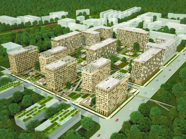 Проект многофункционального жилого квартала. Автор: Ярослав Усов