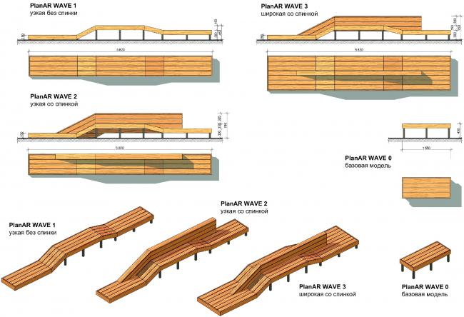 UP-квартал «Сколковский», концепция, лавки PlanAR Wave
