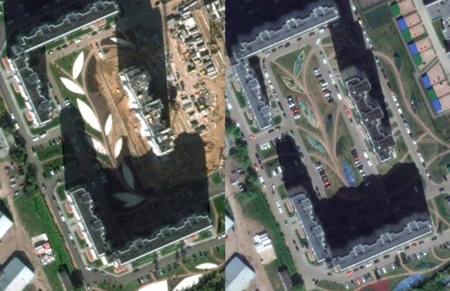 ЖК «Головино», спутниковая съемка / изображение © CNES / Airbus 2017. Картографические данные © Google 2017