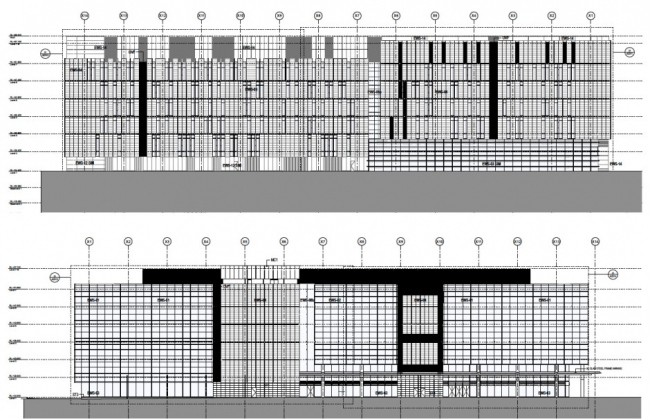 Фасады Центра Чарльза Перкинса в ARCHICAD. Изображение: ©fjmt