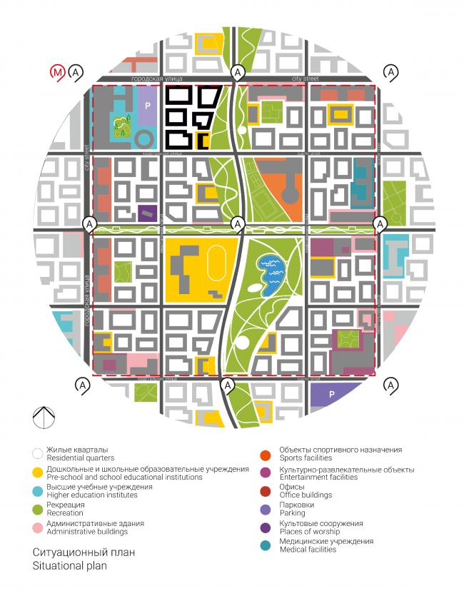 Проект многофункционального жилого квартала. Автор: Анастасия Яременко