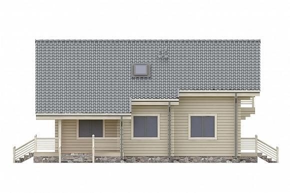Проект дома из клееного бруса СП-250. Фасад. Изображение с сайта gwd.ru