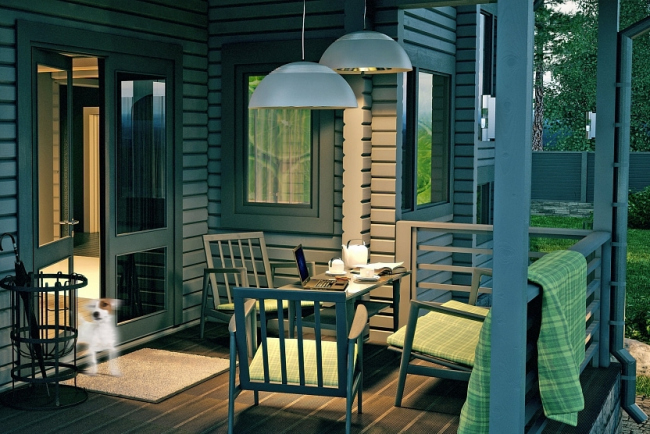 Проект дома из клееного бруса СП-265. Изображение с сайта gwd.ru