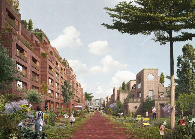 Победитель конкурса биеннале молодых архитекторов. Проект многофункционального жилого квартала Homelands © Citizenstudio