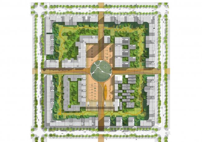 Проект многофункционального жилого квартала Homelands © Citizenstudio