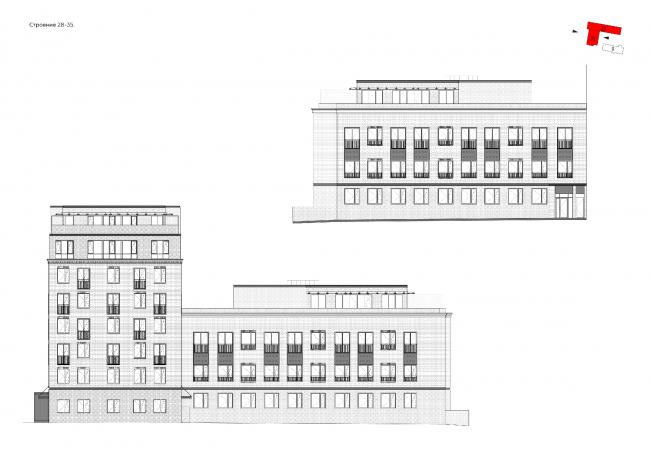 """Bolshevik"" apartment housing complex. Facades © IND Architects"