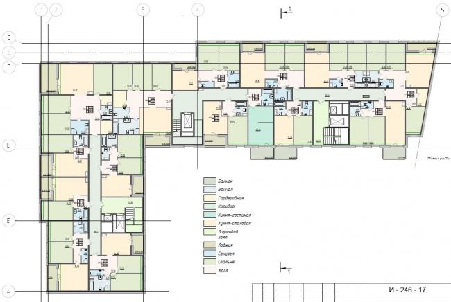 План типового этажа © ООО «АМ Столярчука», 2017