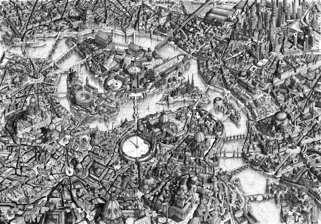 «Рисунок от руки» премии The Architecture Utopia. Автор: Ubaldo Occhinegro, Mua Studio (Италия)