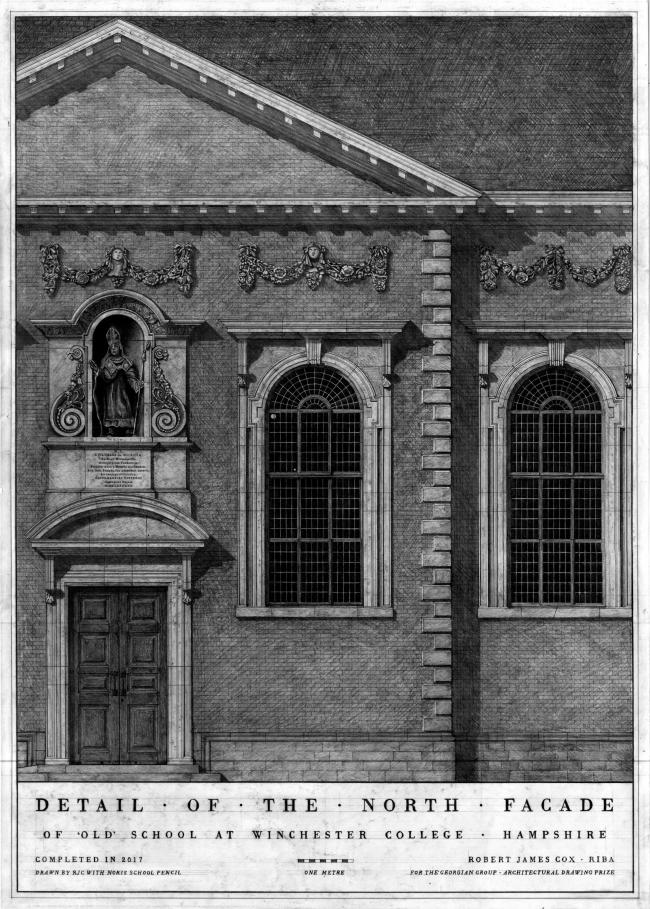 Measured Drawing of School at Winchester College. Автор: Sue Beaumont, ADAM Architecture (Великобритания)