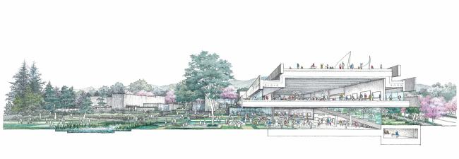 S-Museum. Автор: Masaaki Yamada, Nikken Sekkei Illustration Studio (Япония)
