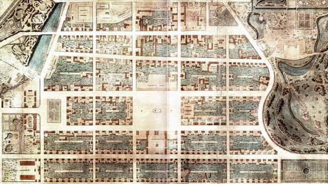 Исторический план застройки центральной части г. Пушкина © Студия 44