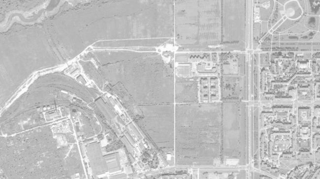 Спутниковый снимок участка под жилой микрорайон в Пушкине © Студия 44