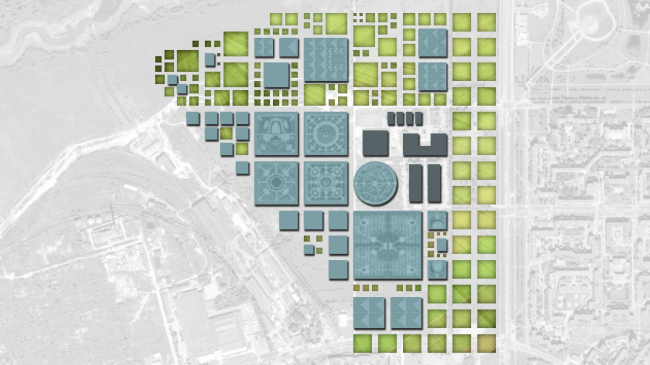 Construction layout. Residential area in Pushkin © Studio 44