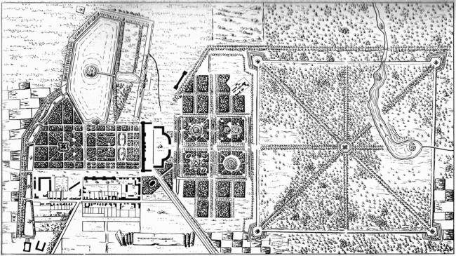 Tsarskoe Selo, the Ekaterininsky Park, plan of 1767-68 © Studio 44