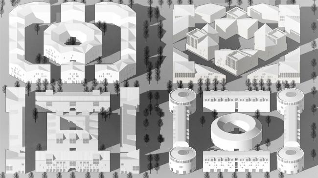 Жилой микрорайон в Пушкине. Жилой комплекс 4 © Студия 44