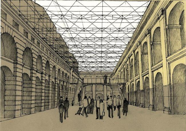 Реконструкция внутренней территории Большого Гостиного двора
