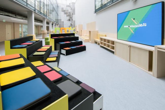 Инженерный корпус школы 548, проект Предприятия Арка. Москва, 2017