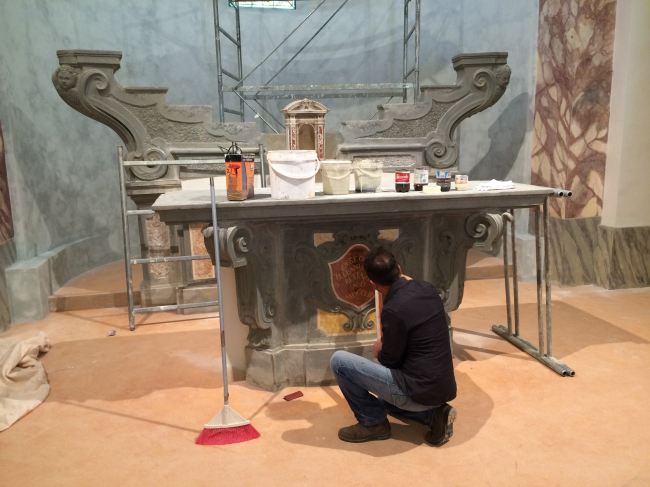 Реставрационные работы компании SANSONE. Фотография предоставлена Агентством ИЧЕ