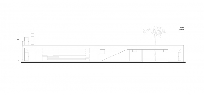 Летний павильон. Схема фасада © Spirin architects