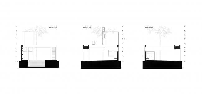 Летний павильон. Разрезы © Spirin architects