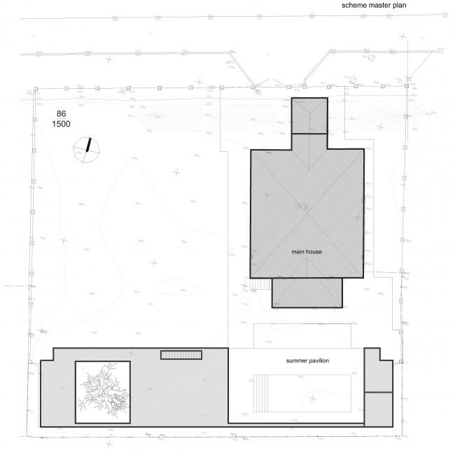 Летний павильон. Схема генплана © Spirin architects