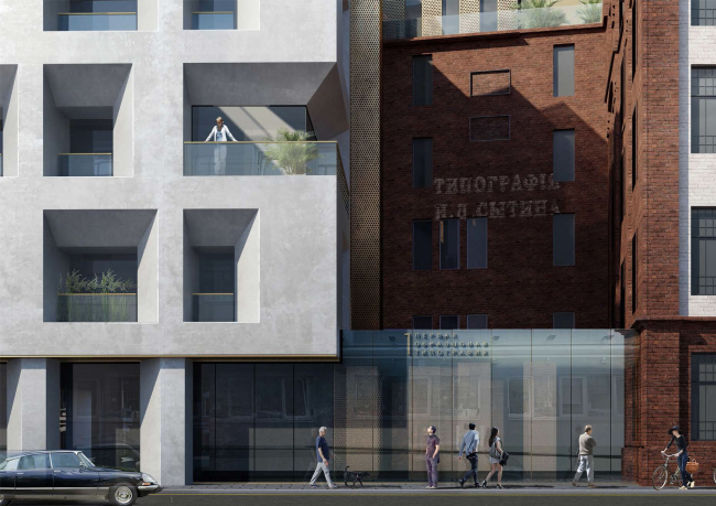 Competition project for renovating the Sytin Printworks into a premium-class apartment and housing complex. Sytin Printworks Museum © Kleinewelt Architekten
