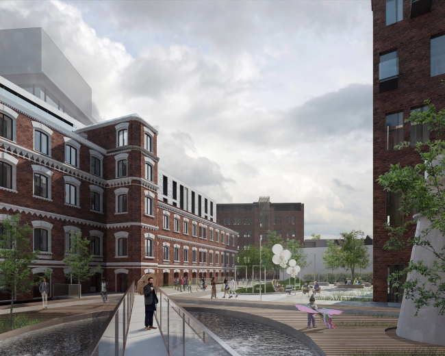 Competition project for renovating the Sytin Printworks into a premium-class apartment and housing complex. Gogol building © Kleinewelt Architekten