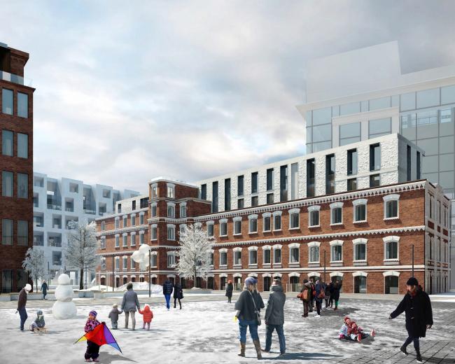 Конкурсный проект реновации типографии Сытина под комплекс квартир и апартаментов премиум-класса. Корпус Гоголь © Kleinewelt Architekten