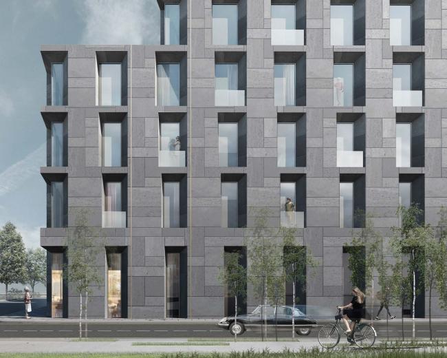 Конкурсный проект реновации типографии Сытина под комплекс квартир и апартаментов премиум-класса. Корпус Двенадцать Блока © Kleinewelt Architekten