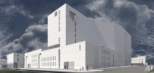 Публичная библиотека с научно-исследовательским комплексом © Модерн проект