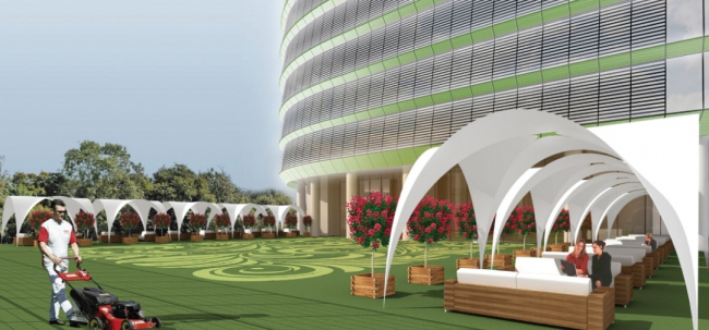 Административный комплекс «Зеленая крона» © Ингмар «Архитектурно-Строительное Бюро»