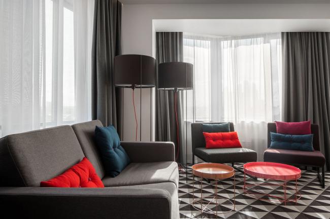 Azimut Hotel Smolenskaya. Interior design © T+T Architects