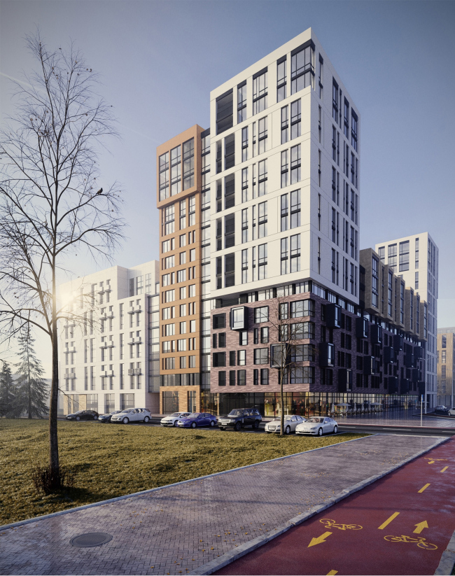 """""""Fayna Town"""" housing complex. First stage of construction © ARKHIMATIKA"""