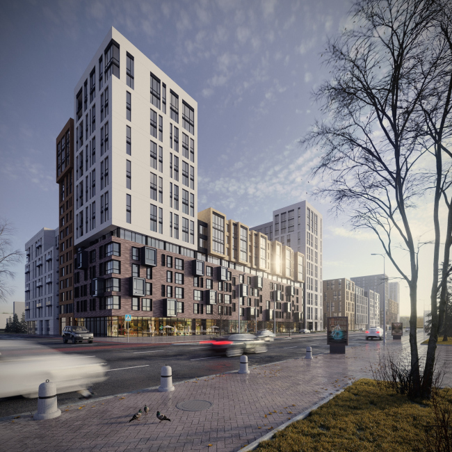 """Fayna Town"" housing complex. First stage of construction © ARKHIMATIKA"