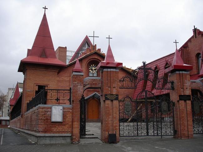 Собор Преображения Господня в Новосибирске. Фото: К.Артём.1 via Wikimedia Commons. Лицензия CC-BY-SA-4.0