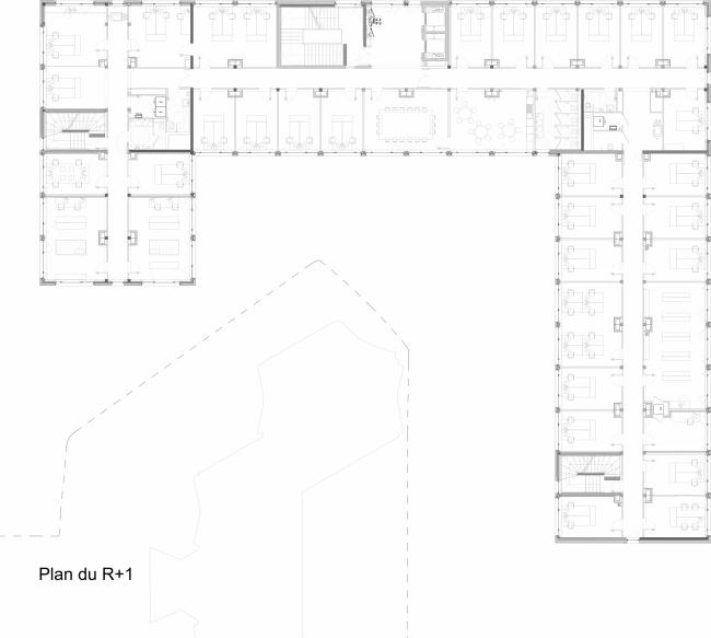 Здание имени Макса Вебера, Университет Париж X – Нантер © Atelier Pascal Gontier