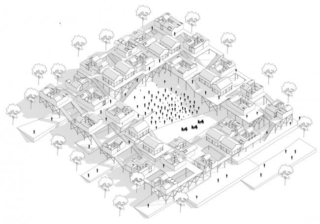Проект «Одна сеть – одна община» (One Grid One Community). Автор:  Цзыхао Вэй, Канада. Изображение предоставлено Bee Breeders