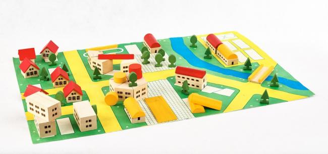 Набор игрушек «Юный архитектор». 1980-е годы © Собрание Московского музея дизайна