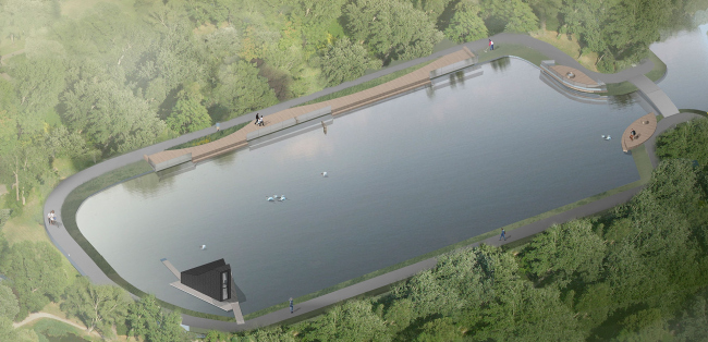 The project of landscaping the Golitsynsky Creek in the Gorky Park © People's Architect