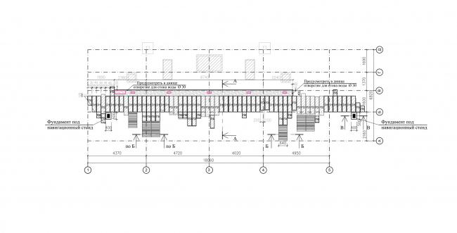 Скульптурный двор музея архитектуры им. А. В. Щусева. Схема расположения плит дорожки и скамеек © Архитектурное бюро «Народный архитектор»